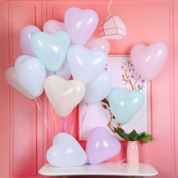 100db Macaroon Szív alakú romantikus vastagabb léggömb lufi dekoráció esküvői születésnap