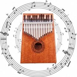 1x mahagóni fából készült 17 billentyűs Zongora Kalimba Mbira Játék Oktatási Játék