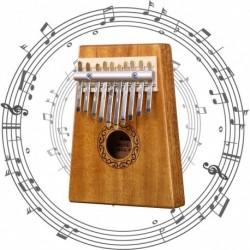 1x akác fából készült 10 billentyűs Zongora Kalimba Mbira Játék Oktatási Játék