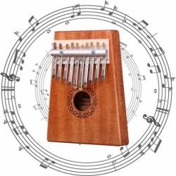 1x mahagóni fából készült 10 billentyűs Zongora Kalimba Mbira Játék Oktatási Játék