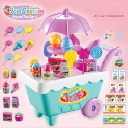 1x Ice Cream jégkrém Kosár fagyis jégkrémárus kocsi gyerek játék szerepjáték