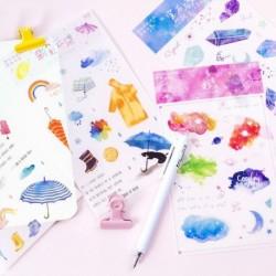 2db színes PVC matrica Scrapbooking DIY napló levélpapír dekoráció