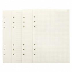 1x Aranyos 6 lyuk újratöltése a belső papír A5  A6 spirál kötő tervezői notebookokhoz