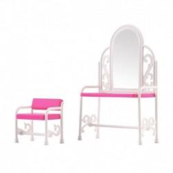 1x Barbies babák Hálószobabútor Fésülködő asztal szék barbie kiegészítő