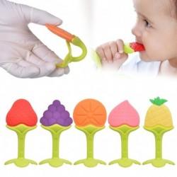 1x Biztonsági kisgyermek baba csecsemő szilikon puha rágóka fogzás eszköz