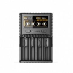 NITECORE SC4 Intelligens gyorsabb töltés Kiváló töltő 4 rés 6A  IMR 18650 14450 16340 AA akkumulátor