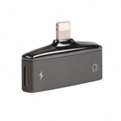 2 in 1 Adapter iPhone X 8/7 Aux Splitter audió fejhallgató töltő