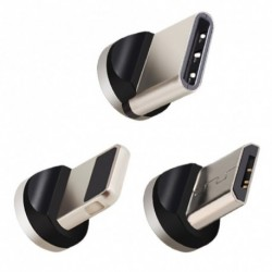 Micro USB port mágneses adapter töltő iPhone IOS Android C típusú USB kábel