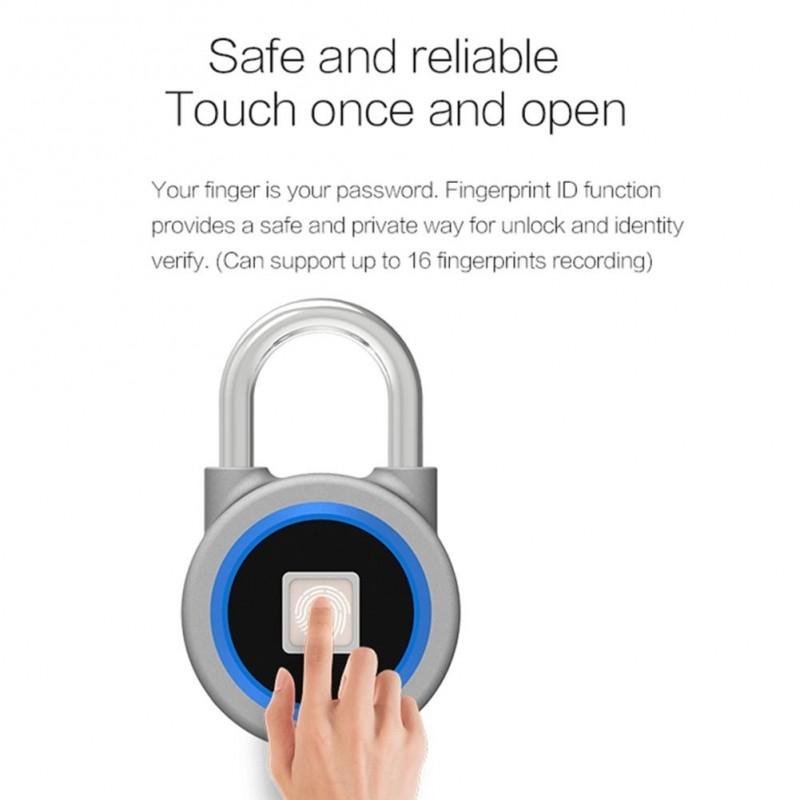 ddfd2bca7d6d Mini Bluetooth lakat telefon APP vízálló kulcstartó ujjlenyomat lezárás  Anti-lopás ajtó zár