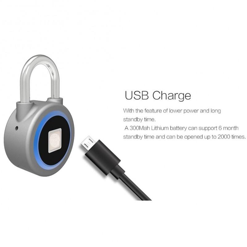 fd3d2f3a41 Mini Bluetooth lakat telefon APP vízálló kulcstartó ujjlenyomat lezárás  Anti-lopás ajtó zár