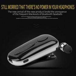 1x Mini Wireless Bluetooth fülhallgató hívás klip sport fülhallgató