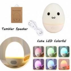 1x Mini hordozható vezeték nélküli zenei hangszóró LED Színes fény Bluetooth