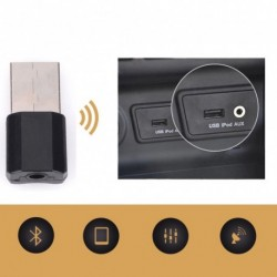 Vezeték nélküli USB Bluetooth 3,5 mm AUX audio sztereó zene otthoni autós vevőadapter