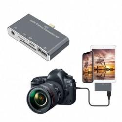 Lightning Splitter 3,5 mm audio /SD/TF kártya/töltés/USB 2.0 kamera otg iPhone X 8 7 6 Plus-hoz