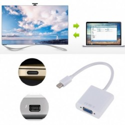 Mini DisplayPort Mini DP Thunderbolt Mini DisplayPort - VGA Adapter 1080p
