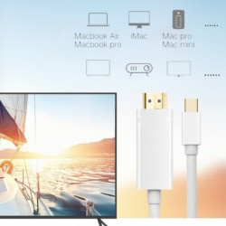 1.8M Mini DisplayPort Mini DP Thunderbolt - HDMI Adapter kábel 1080p