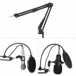 BM800 kondenzátor mikrofon készlet Pro hangstúdió rögzítés és átvitel állítható mikrofon ollóval