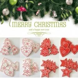 1x Ünnepi Karácsonyi téli otthon lakás dekorációs kellék télapó fenyődísz