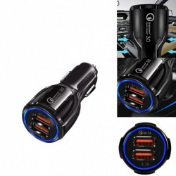 QC3.0 minősített gyors töltésű kettős 2 USB port QC 3.0 gyors Autó töltő 36W