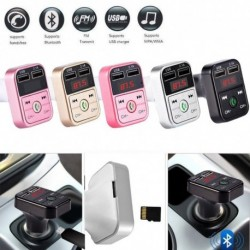 1 db Univerzális FM adó Bluetooth Autó készlet MP3 lejátszó LED kettős USB 4.1A Autó töltő