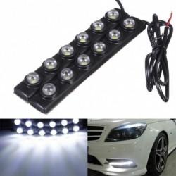 2db 6 LED nappali menetfény DRL Auto autó Eagle Eye ködlámpa 12V