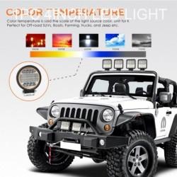 1db 4 hüvelykes 72W kerek LED-es munka lámpa Fényszóró offroad ATV teherautó sárga angyalszem