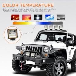 1db 126W 6000K LED-es világítósáv árvíz-helyszínen tompított fénysugár 4WD SUV vezetési ködlámpa