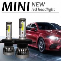 2db Mini 6000LM autó fényszóró izzó LED izzó LED fényszórók készlet 9005 9006 H4 H11