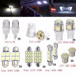 14db LED 1157 T10 31 36mm belső térkép Dome rendszámtábla világító izzó készlet fehér
