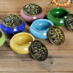 1x Antik hatású  réz színű porcelán aromaterápiás diffúzor