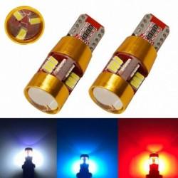2db T10 3014 27SMD fény CANBUS 501 194 W5W Autó LED izzó Széles fény