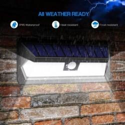 1x 62 LED napelemes lámpa mozgásérzékelő fali fény kültéri vízálló biztonsági éjjeli fény