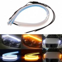2db 60 cm-es flexibilis áramló LED-es  autó fényszóró jelzőféke nappali futó fény