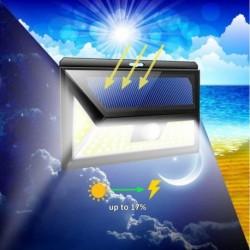 1x 54 COB LED napelemes Mozgásérzékelő biztonsági fény 3 üzemmódban világítanak