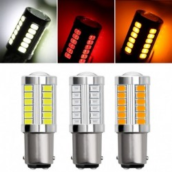 1db 1157 33-SMD LED-es autó izzó biztonsági  5630 BA15S P21W