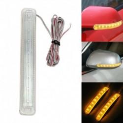 1db univerzális 12V 9 LED autó  borostyán oldalsó ajtó tükör puha megvilágítás irányjelző