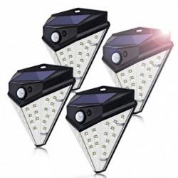 1x 32 LED műanyag vízálló mozgásérzékelő kültéri biztonság napelemes lámpa