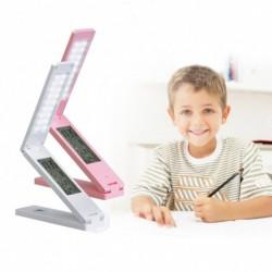 1x Összecsukható LED asztali lámpa USB újratölthető állítható érintésvezérlő fényerő ébresztőóra Naptár