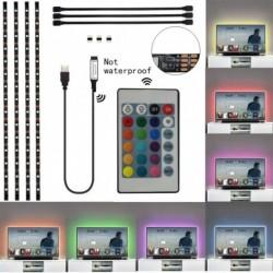 1x Vízálló USB RGB színváltó 5050 LED csík Számítógép háttérvilágítás