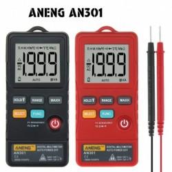 1x Hordozható ANENG AN301 1999 Digitális multiméter AC egyenáramú mini feszültségmérő mérő