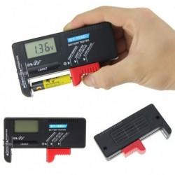 1x BT-168D univerzális digitális LCD AA AAA C D 9V 1.5V gombelem akkumulátor feszültségmérő