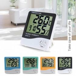 1x LCD digitális hőmérő nedvességmérő hőmérséklet páratartalom mérőóra