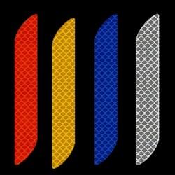 2db univerzális fényvisszaverő matrica Autó biztonsági ellenálló dekoratív matrica hátsó sáv