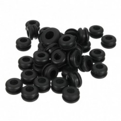 180Pcs tömítéskészlet Fekete gumi alátét tömítés tömítőgyűrű választék készlet Tartalék alkatrészek Kábel