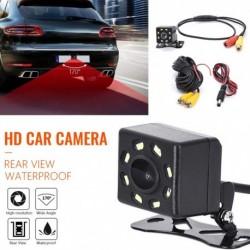 8 LED éjjellátó autó hátsó tolató kamera széles látószögű HD vízálló