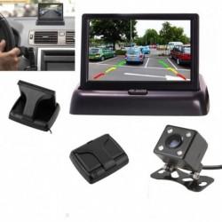 """Vezetékes HD autókamera 170 °   4,3 """"LCD monitor tolató éjjellátó"""