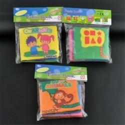 3db (Character   állati   Graphics .... 3db Baby&*39 s Educational Intelligence fejlesztés Soft Cloth Ismerje meg a könyvek