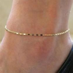 Nők egyszerűen arany lánc boka karkötő fülbevaló mezítláb szál láb ékszer ajándék