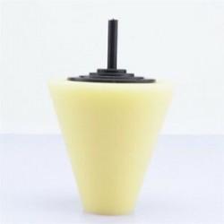 1PC sárga (puha). 3db autók kerékfényes habszivacs szivacs Hub polírozó kúp alakú puffasztó párnák