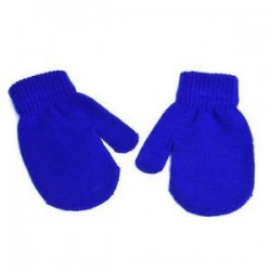 Kék. Kisgyermek gyerekek téli meleg kesztyű Baby Boy Girl Aranyos puha kötés ujjatlan kesztyű